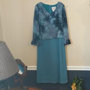 Sequin Sparkle Ocean Blue Turquoise Dress
